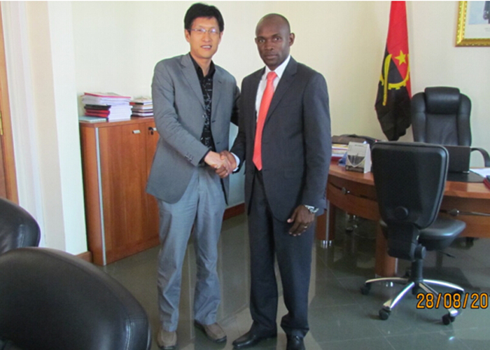 JOSE TCHIVELA, Vice Governor of Bie Province of Angola, met with Group Vice President Ma Guokun